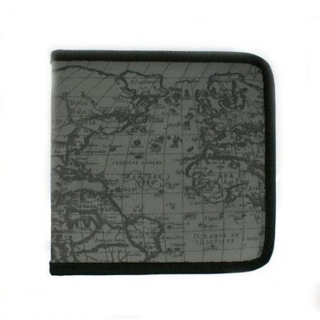 清仓赔本时尚高品质地球纹牛津布40片装CD包