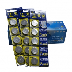 天球CR2016纽扣电池 3V锂电池/5个