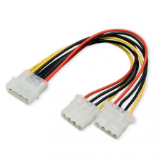 机箱一分二电源线 硬盘电源线 IDE一分二电源线 4针一分二