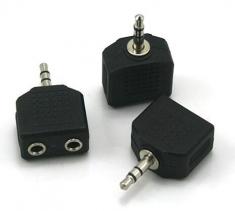 3.5转2个3.5孔 耳机分频头 一分二 音频转接头