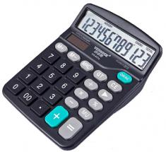 威诺思计算器837 太阳能双电源12位数办公计算机5#电池计算器