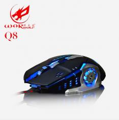 烽火狼Q8有线无声宏定义USB游戏鼠标 网吧台式机LOL 穿越火线