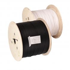 安润达/鲁捷混室外三钢丝黑色1芯光纤线足1000米木质盘