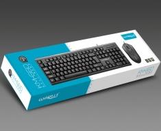 烽火狼KM660/汇佰硕BT180混发有线鼠标键盘套装