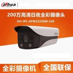 大华  DH-IPC-HFW2233DM-LED  200万全彩网络摄像头高清监控摄像机