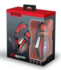 梅赛德X9 精钢头戴电竞重低音发光游戏耳麦头戴式耳机带麦克风